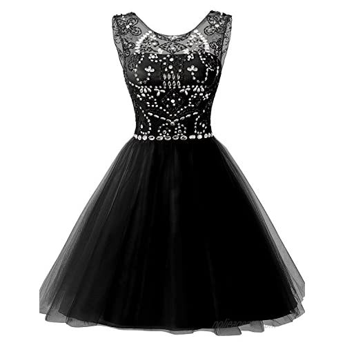 Sarahbridal Women's Short Tulle Beading Homecoming Dresses 2020 Prom Party Gowns