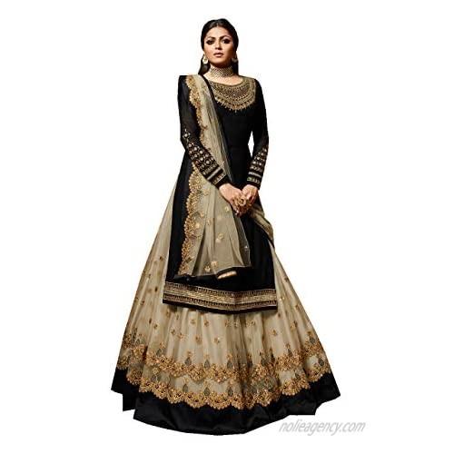 Delisa New Indian/Pakistani Eid Special Party/Ethnic wear Georgette Straight Ghagra Style Salwar for Womens LTT