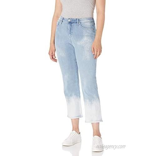 Gloria Vanderbilt Women's Plus Size Mid Rise Straight Leg Crop Length Jean