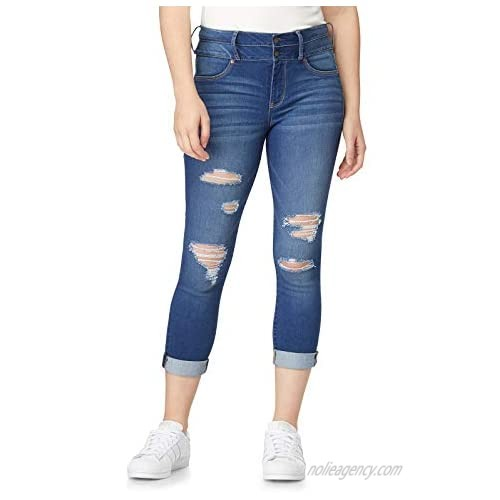 WallFlower Juniors Sassy High Waisted Cropped Jeans