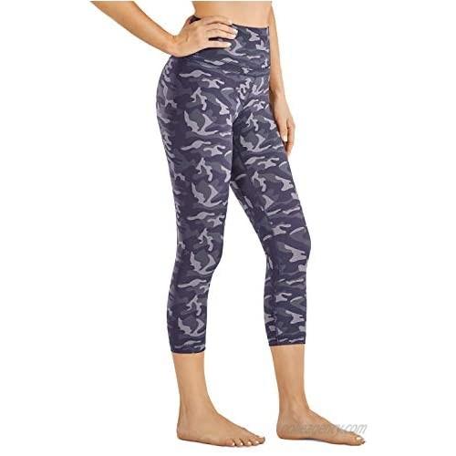 CRZ YOGA Women's High Waist Crop Capri Leggings Workout Pants Naked Feeling I Pattern - 19 Inches