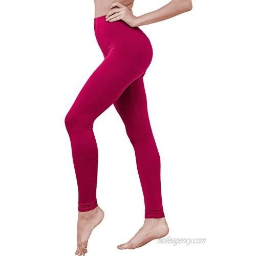 HASLRA Women's Light Weigh Premium Viscose Rayon Stretch Full Length Leggings