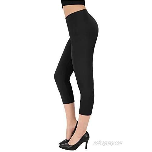 HDE Capri Leggings for Women - Plus Size Leggings for Women Buttery Soft Capris