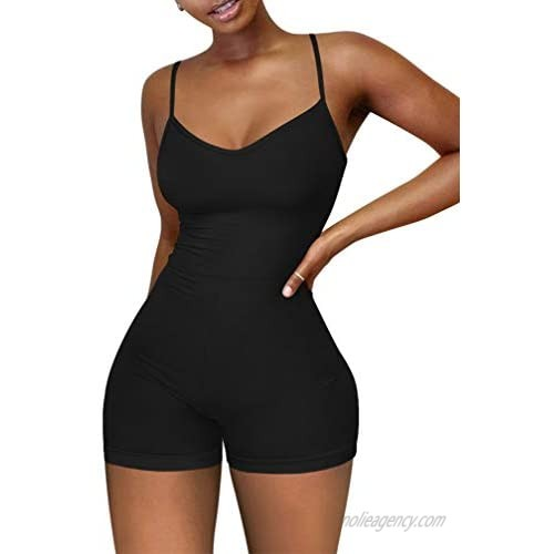 XXTAXN Women's Sexy Sleeveless Spaghetti Strap Party Club Short Rompers Jumpsuit