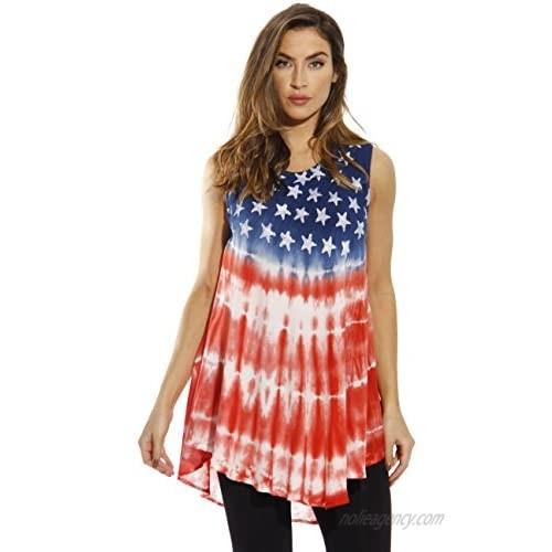 Riviera Sun American Flag Top Tops for Women