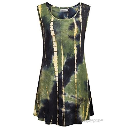Sixother Tie Dye Tunics Womens Sleeveless Summer Tank Tops Summer Tunic Tops