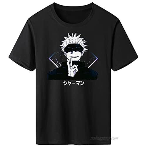 TiwBski Jujutsu Kaisen T-Shirt Unisex Anime Creative Cotton Short Sleeve Tee