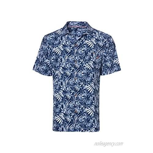 Caribbean Joe Men's Short Sleeve Stretch Button Up Shirt