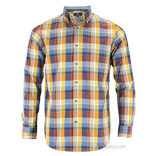 Argyle Culture Mens Long Sleeve Button Up Bold Checkered Shirt  Multi