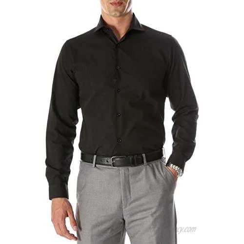 Ferrecci Men's Dress Shirts - Mens Slim Fit Dress Shirt with Spread Collar