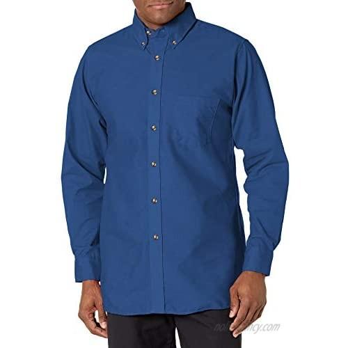 Red Kap Men's Poplin Dress Shirt  Royal Blue  5X-Large/Tall