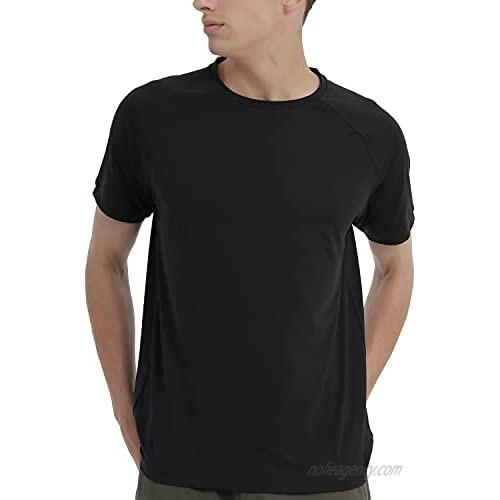 Men's Short Sleeve T-Shirt Running Shirts UPF 50+ Sun Protection Moisture Wicking Quick Dry Athletic Round Neck Casual Shirt