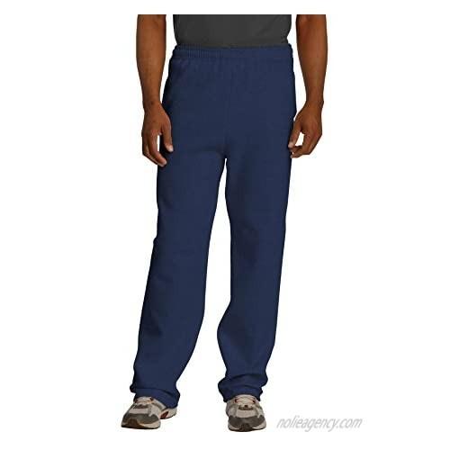 Jerzees mens Fleece Sweatpants  Open Bottom - Navy  Medium US