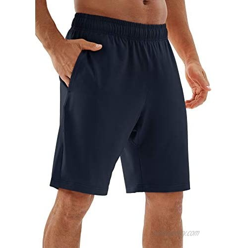 icyzone Running Shorts for Men - Workout Gym Athletic Jogger Shorts with Pockets