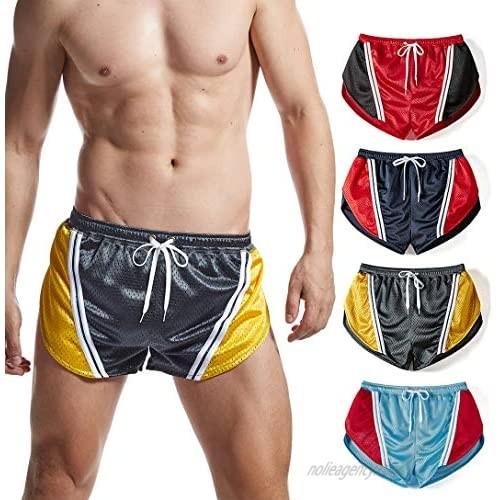 Mens Ranger Panty Side Split Lounge Shorts Retro Workout Running Short Shorts with Lining for Men