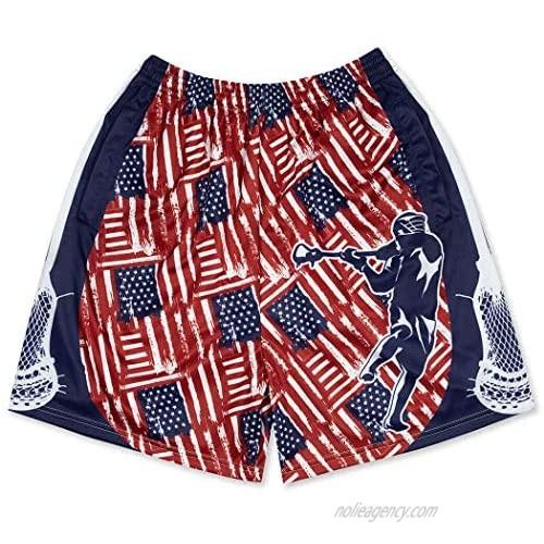 Premium Lacrosse Athletic Shorts | Various Designs | Adult Sizes