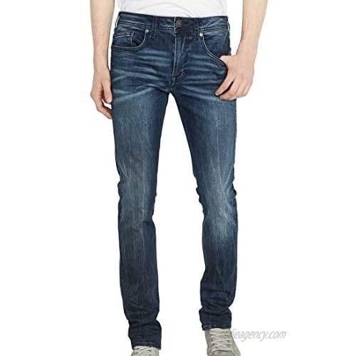 Buffalo David Bitton Men's Max-x Skinny Fit Marbled and Dark Washed Fashion Denim Pant