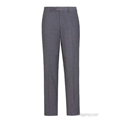 AMY ZHU Men's Premium Straight Fit Flat Front Dress Pant