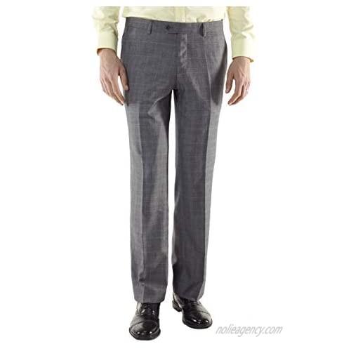 Grey Wrinkle Free Wool - Men's Custom Made Dress Pants/Slacks by MyCustomTailor