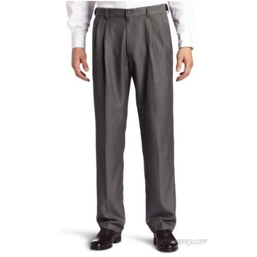 Haggar Men's Big-Tall Cool 18 Gabardine Hidden Expandable Waist Pleat Front Pant  Graphite  54x34