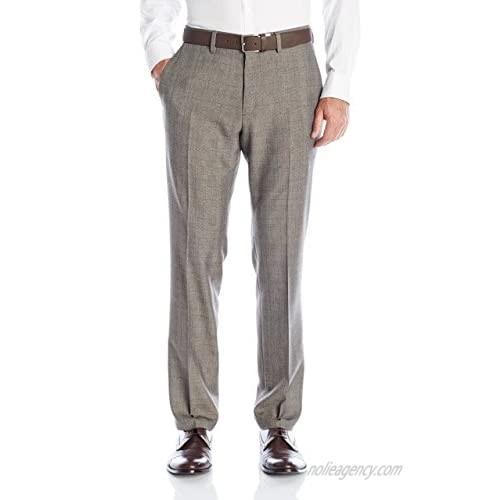 Kenneth Cole Reaction Men's Plaid Flat-Front Slim-Fit Dress Pant