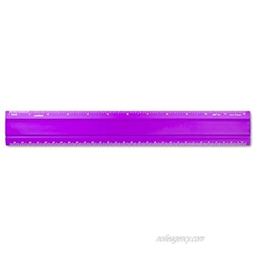 Alumicolor Aluminum Office Ruler  12IN  Purple