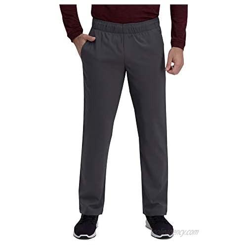Haggar Men's Active Series Straight Fit Flat Front Comfort Pant