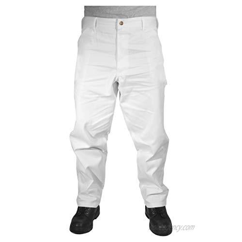 Rugged Blue CSGPTWP1000025167-WHT-36X30 Painters Pants  English  Cotton  36 x 30 White
