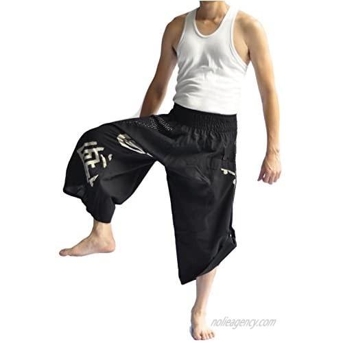 Siam Trendy Men's Japanese Style Pants One Size Black Japanese Design