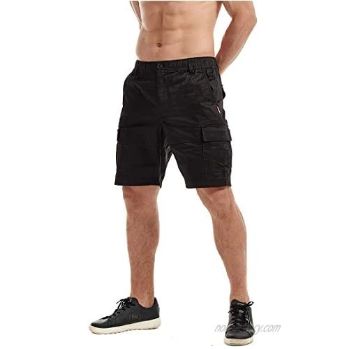 AIMPACT Mens Casual Cargo Work Shorts Classic Relaxed Fit Camo Hiker Shorts with Pockets