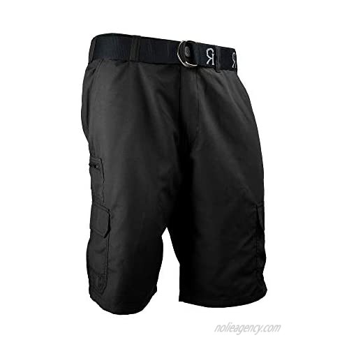 Gray Rivets Men's Athletic Performance Cargo Short with Belt