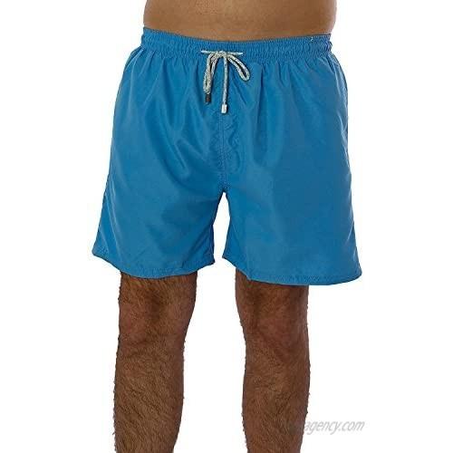 Exist Men's Solid Color Swim Trunks