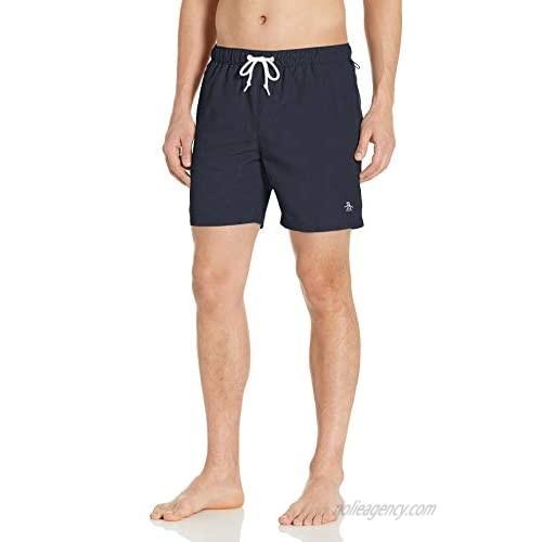 Original Penguin Men's Quick Dry Daddy Elastic Waist Swim Short