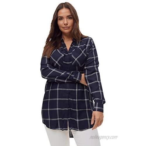 ellos Women's Plus Size Two-Pocket Tunic